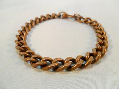 Vintage Bracelet / Bangle Solid Copper 22 Grams Curb by KathiJanes, $21.95