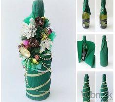 Ako slávnostne zabaliť fľašu vína