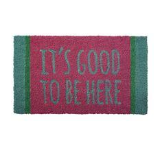 Coir Doormat Good to be There RICE #RICE via @teitloos #teitloos
