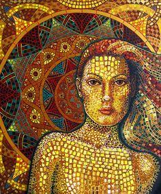 "Mozaika ""Tessellations"" autorstwa Tani Donald  https://www.facebook.com/CeramikaParadyz"