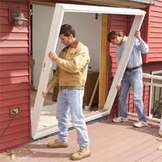 How to replace a patio door   step-by-step