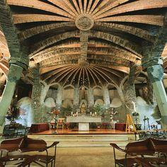 Gaudí Crypt @ Colonia Güell, Catalonia, Spain