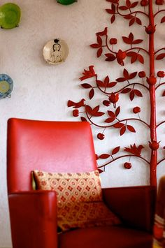 I Love The Red Chair And Tree Decor Rugsnowdesign Spray Paint 1970s