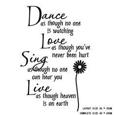Decoración-del-hogar-danza-amor-Sing-Live-Wall-Sticker-removible-cotizaciones-Decals-pegatinas-decoración-del-arte.jpg (750×750)