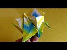 COMO FAZER UMA CAIXA DE ORIGAMI COM TSURU - YouTube