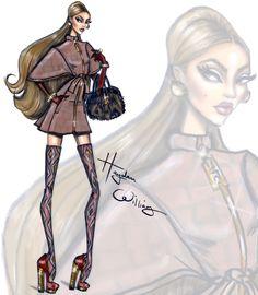 Hayden Williams Fashion Illustrations | FW15 by Hayden Williams: Look 1