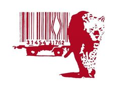 Banksy Canvas (READY TO HANG) - Cheetah Red (pick any color) - Multiple Canvas Sizes