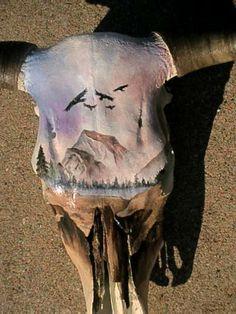 Hand painted skulls (by Vicki Garza) Amazing!