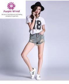 99e434b06f Plus Size S - European and American summer wind female blue high waist  denim shorts women worn loose burr hole shorts