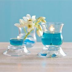 "Clearly Creative Ultimate Votive Pair - So many ways to use! Two glass cups and two dishes that stand alone or combine in several ways to hold a tealight or votive, sold separately. Cup: 2½""h, 2½""dia. Dish: ¾""h, 3""dia. by PartyLite"