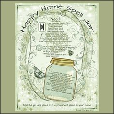HAPPY HOME SPELL Jar, Digital Download, Book of Shadows, Grimoire, Scrapbook, Wicca, Pagan, Witchcraft, White Magick, Magick Spell by MorganaMagickSpell on Etsy