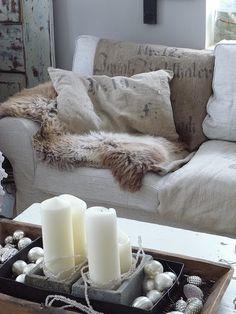 Burlap and fur...a match made in heaven...princessgreeneye