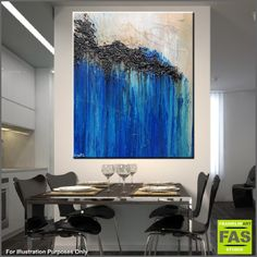 """Abstract paintings, Abstract Realism and Urban pop art """"in situ"""" displayed in spaces. Please feel free to visit my website, where you can purchase my current stock, or message me to discuss a commission (or say hello!)...... I love what I do, so please enjoy! Happy Trails Franko.......... Blue Sky Navy Prussian abstract paintings"""