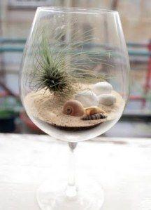 beach theme wine glass