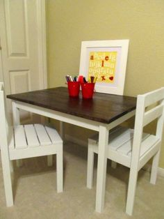 Alex's Art Table & Chairs | Do It Yourself Home Projects from Ana White