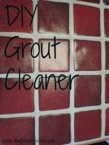 How to Clean Grout in Your Home-  How to Clean Grout in Your Home  Use seven cups of water,  1/2 cup of baking soda,  1/3 cup of ammonia or lemon juice, and 1/4 cup vinegar  Scrub into grout lines until clean.