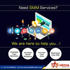 A social media marketing strategy will help to grow your brand. The aim of social media marketing is to identify your goals, engage the audience, and optimize your results... #smm #socialmediamarketing #socialmedia #advertising Social Media Services, Social Media Branding, Social Media Marketing, Advertising, Goals