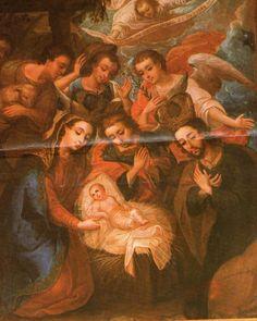 Adoración de los Ángeles y los pastores. Cristóbal de Villapando, siglo XVIII, Iglesia de Orosi, Cartago, Costa Rica