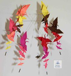 Origami orizuru závěsný kolotoč, ideální nad dětskou postýlku :)