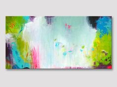 Original large abstract painting colorful painting by ARTbyKirsten