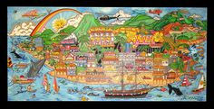 """From Maui with Love - U14  62"""" x 30"""""""