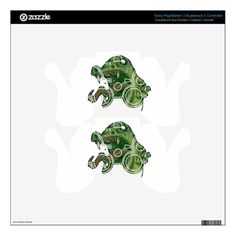 #Monster Green PS3 Controller Skins - customized designs custom gift ideas
