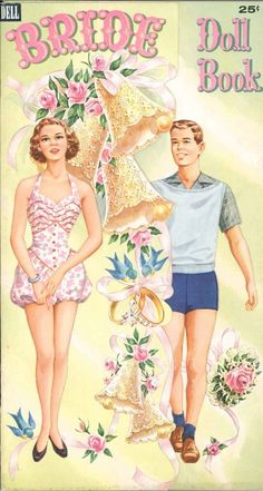 VINTAGE 1953 BRIDE DOLL BOOK PAPER DOLL LAZER RPRO ORG SZ | eBay