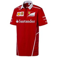 Ferrari Formula 1 Men's 2017 Red Team Shirt w/Sponsors