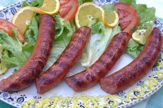 local sausages from Kalloni Lesvos