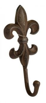 "£1.99 - Westwoods Iron Fleur De Lys Hook  Larchwood Forge. Cast iron construction, easy to install but fixings are not included. Approximately 8 x 4"" in size."