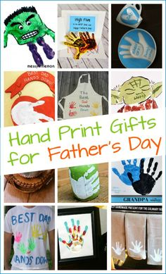 Vatertag Geschenk 10 + Handmade Father's Day gifts kids can make with their hand prints - Geschenkideen Fathers Day Crafts, Happy Fathers Day, Gifts For Father, Gifts For Kids, Dad Gifts, Handmade Father's Day Gifts, Diy Father's Day Gifts, Diy Birthday, Birthday Gifts