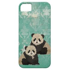 Vintage Panda Bears iPhone Case iPhone 5 Cases..... THIS IS MINE!!!!! I need it