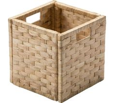 Buy HOME Water Hyacinth Cubed Storage Basket - Small Weave at Argos.co.uk, visit Argos.co.uk to shop online for Storage baskets and boxes, Storage, Home and garden