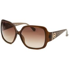Pre-owned Michael Kors Sunglasses ($98) ❤ liked on Polyvore featuring accessories, eyewear, sunglasses, apparel & accessories, brown, clothing accessories, rose glasses, logo lens sunglasses, michael kors eyewear and reptile sunglasses