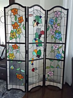 stained glass room divider | colored glassmarlina | pinterest
