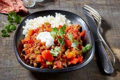 Chili con carne met zwarteogenbonen en paprika