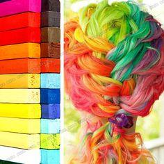 24 Tizas tiza para teñir el pelo No Tóxicas colores vivos pastel on eBay!