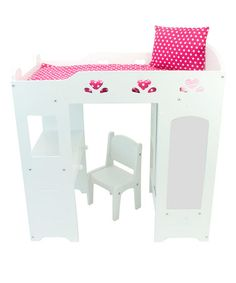 Another great find on #zulily! Loft Bed for 18'' Doll #zulilyfinds