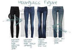 jeans hourglass figure
