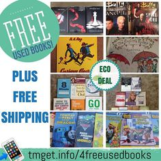 DON'T MISS THIS DEAL (I just got shipping confirmation in my Free book and I found a new one too)  Great Eco Friendly Freebie! Right now (for a limited time) you can grab a few sets of Free Books for your self or for the kids for FREE with Yerdle a new online used sales site. For every new member that signs up you get $35 Yerdle points to use for anything you may need. I found that books were the easiest way to go plus Free Shipping on most of them. But if you don't need books you can also…