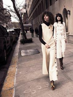 Julia Nobis(R) in GUCCI & Mica Arganaraz by Glen Luchford for Vogue Paris March 2015