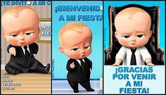 Descarga gratuitamente la Invitación de cumpleaños El Bebé Jefazo + Bonus con día, hora y lugar. Lista para imprimir.