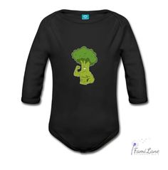 Organic Long Sleeve Baby Bodysuit with Broccoli printed on it. Soft,adorable,gives you the best quality for your loved ones.