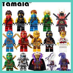 [Yamala] 15pcs/Lot Compatible LegoINGlys NinjagoINGly Cole Kai Jay Lloyd Nya Skylor Zane Pythor Chen Building Blocks Ninja Toys