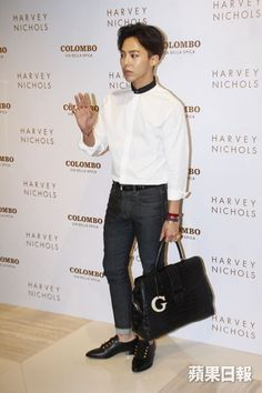 G-Dragon at Harvey Nichols in Hong Kong for Colombo Via della Spiga's launch Event (140806) #BIGBANG