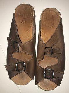db7536dd3086f Dansko womens clog sandals Sanita open toe buckle brown size 40 slip on   fashion