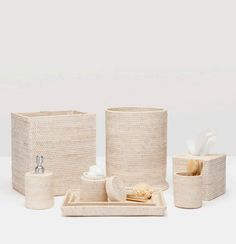 Dalton White Washed Bath Accessories | Gracious Style