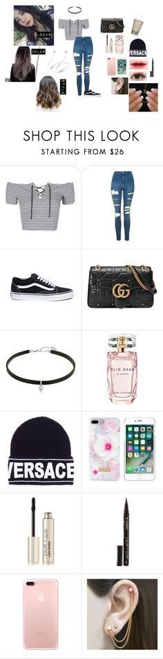 """""""My Bad girl (Bts//Jung Hoseok/ J-Hope)"""" by parksora-967 ❤ liked on Polyvore featuring Topshop, Vans, Gucci, Carbon & Hyde, Elie Saab, Versace, Ted Baker, Laneige, Smith & Cult and Embers Gemstone Jewellery"""