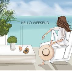 Hope your weekend is filled with beautiful views! Hope your weekend is filled with beautiful views! Hello Weekend, Bon Weekend, Hello Summer, Happy Weekend, Happy Friday, Love Art, Poses, Drawings, Prints