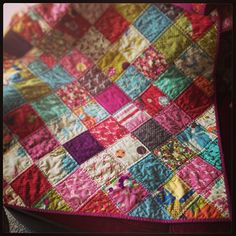 This is what I want to do with my patchwork quilt when I make one- squares on point. @Michelle Lizcano Michelle @ i like orange., via Flickr